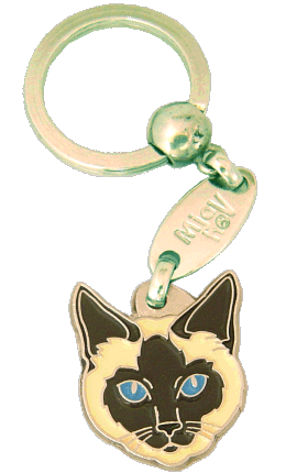 Siamese cat traditional - pet ID tag, dog ID tags, pet tags, personalized pet tags MjavHov - engraved pet tags online